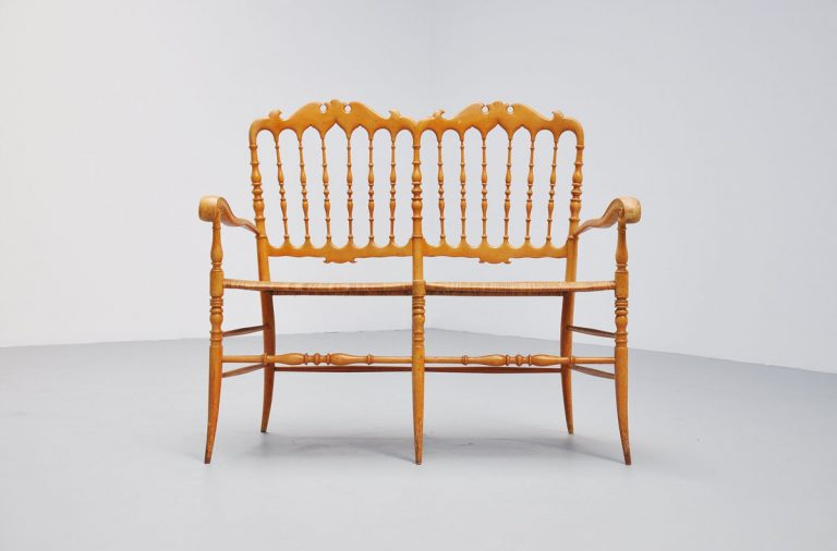 Chiavari bench, light weight Italy 1950