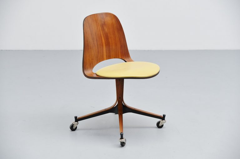 George Mulhauser plycraft rosewood desk chair USA 1950