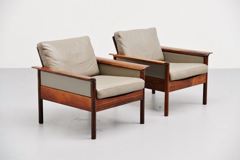 Hans Olsen easy chair pair for Vatne Mobler Denmark 1960