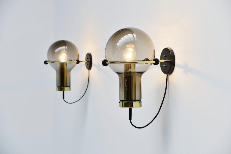 Raak Maxi globe wall lamps Holland 1965