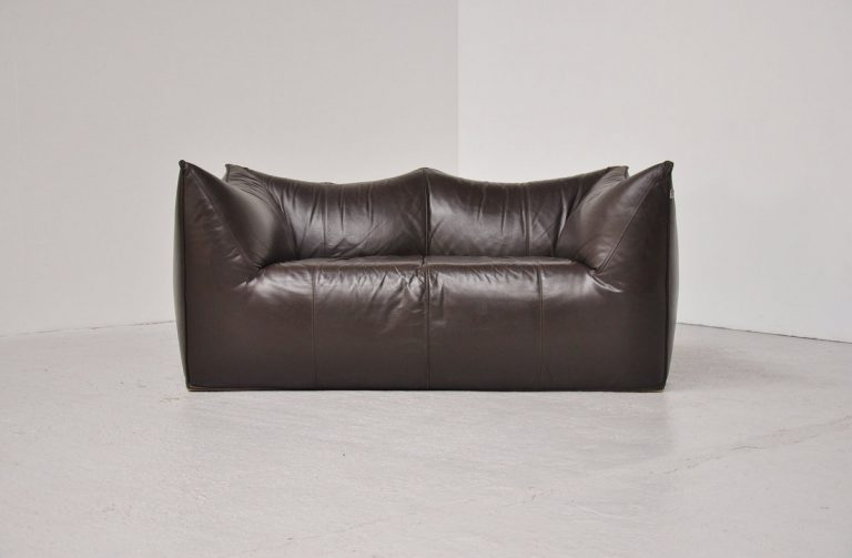 Mario Bellini Bambole sofa brown leather B&B 1972