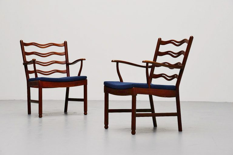 Ole Wanscher easy chairs Fritz Hansen 1944