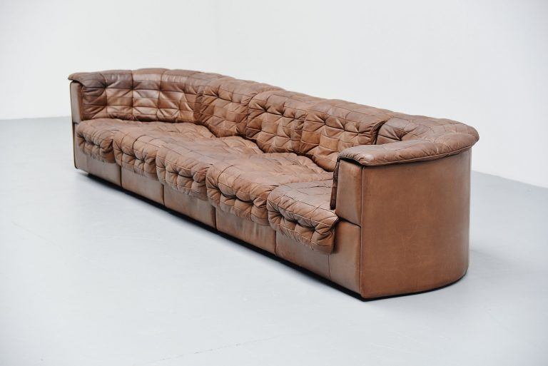 De Sede DS11 patchwork sofa in chocolate brown Switzerland