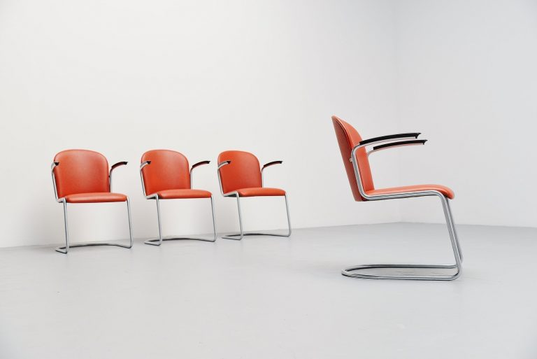 W.H. Gispen 413 cantilever chairs Holland 1961