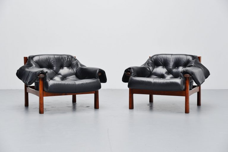 Percival lafer lounge chairs pair Brazil 1960