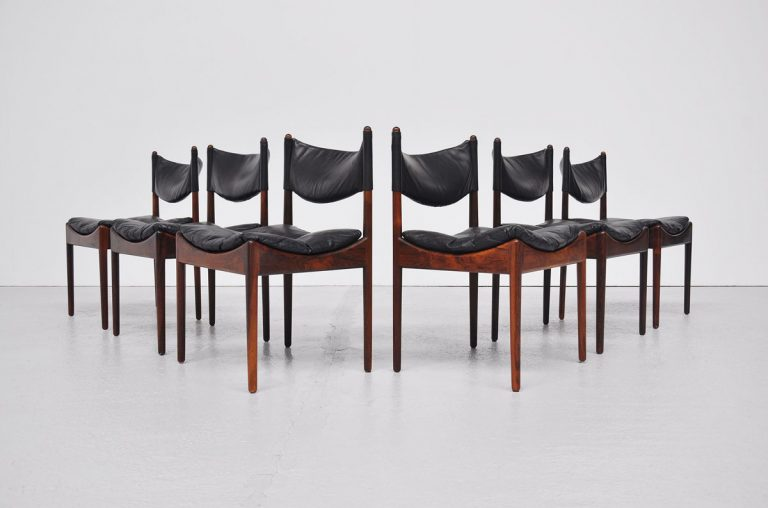 Kristian Vedel modus dining chairs in Rosewood 1963