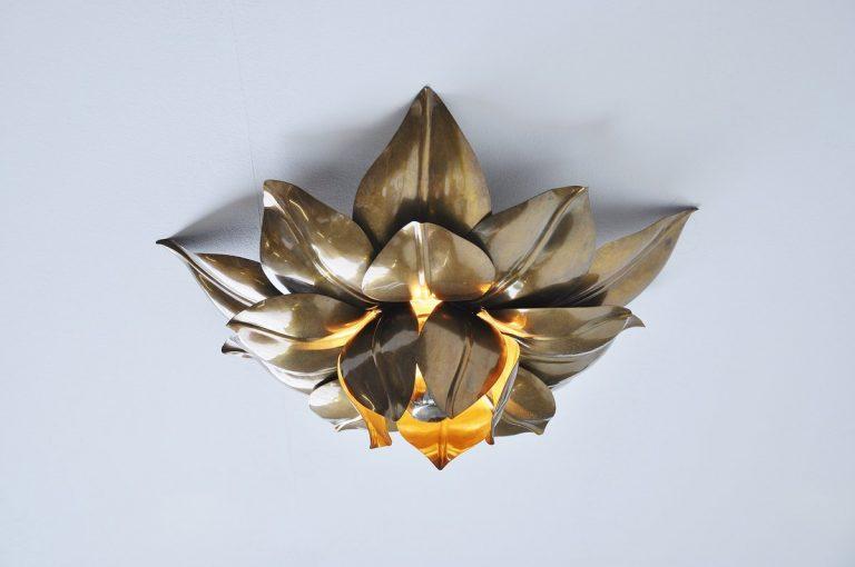 Maison Charles flower ceiling lamp France 1970