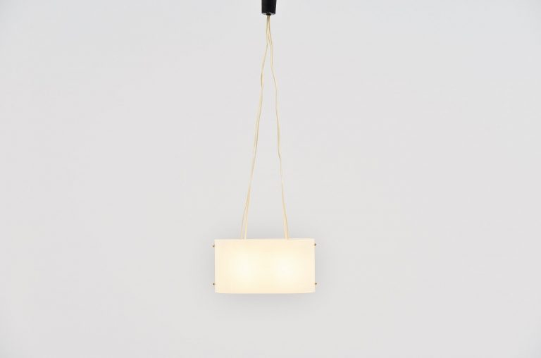 Italian pendant lamp in brass and plexi 1960