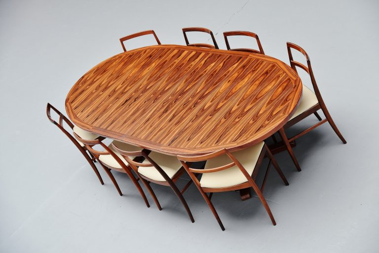 Danish oval rosewood dining table Denmark 1960