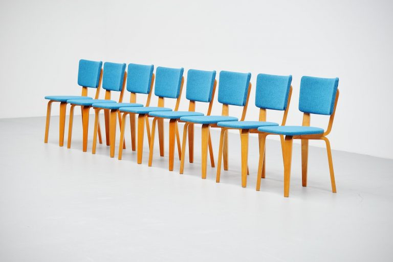 Cor Alons plywood dining chairs Gouda den Boer 1949