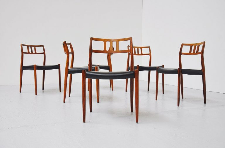 Niels Moller #79 chairs set of 6 in Rosewood 19666
