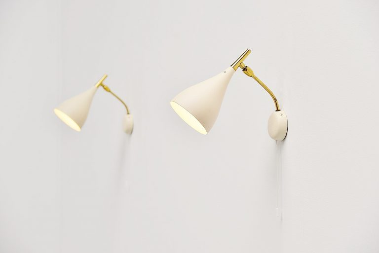 Cosack pair of wall lamps Germany 1960