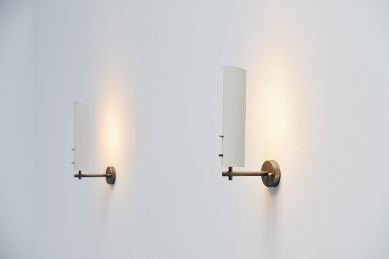 Anvia sconces pair by JJM Hoogervorst Holland 1955