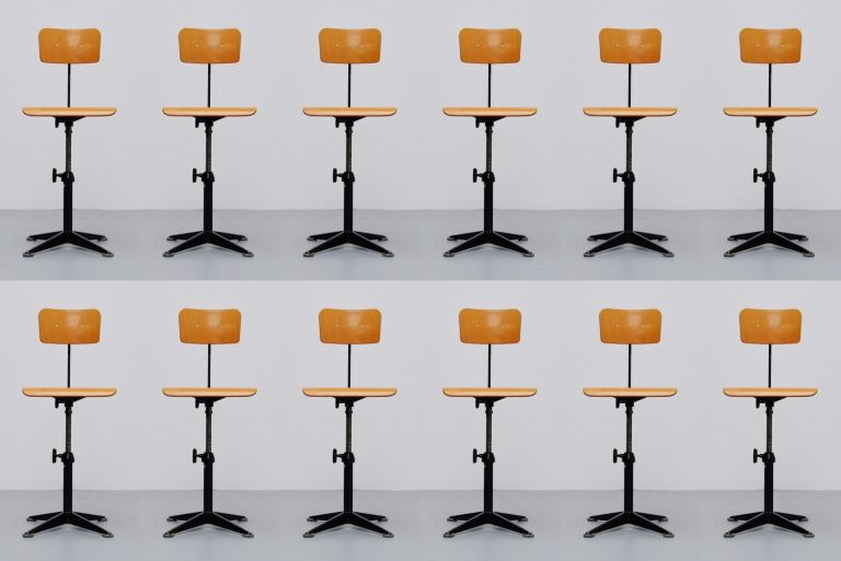 Friso Kramer drafting chair set Ahrend de Cirkel 1963