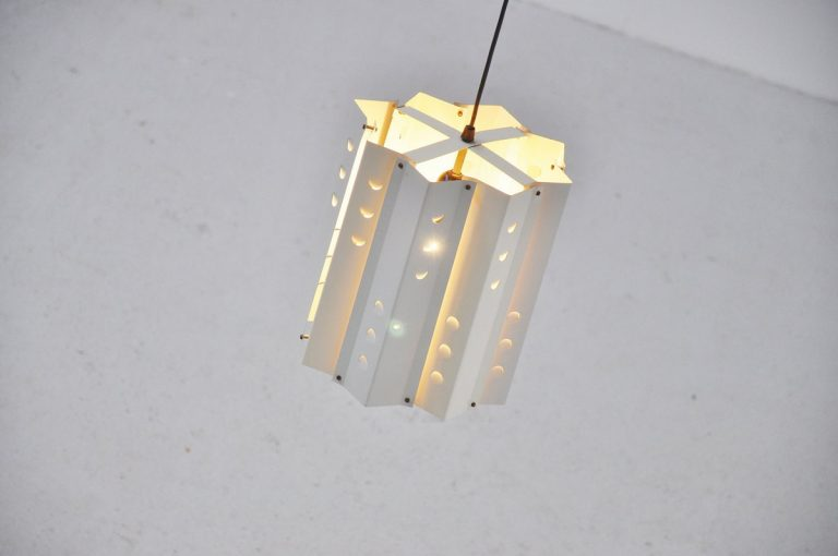 Anvia ceiling lamp white die cut 1960