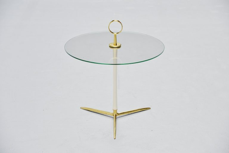 Cesare Lacca tripod side table brass Italy 1950