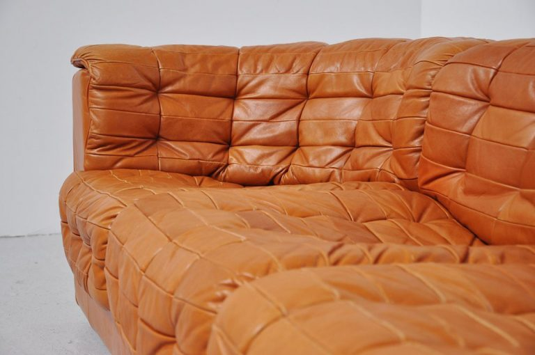 De Sede DS 11 Soda cognac patchwork leather 1970