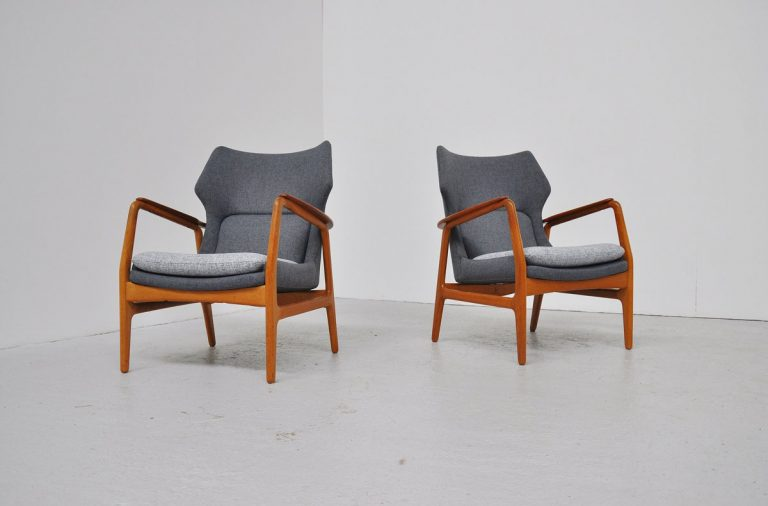 Bovenkamp wingback chairs pair 1960