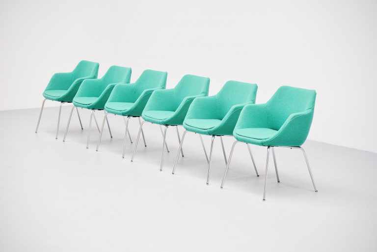 Artifort dining chairs in Kvadrat upholstery 1960
