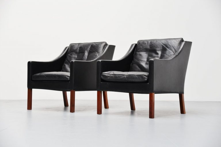 Borge Mogensen Fredericia lounge chairs Denmark 1963