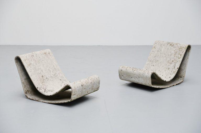 Willy Guhl loop chairs pair Eternit AG Switzerland 1954