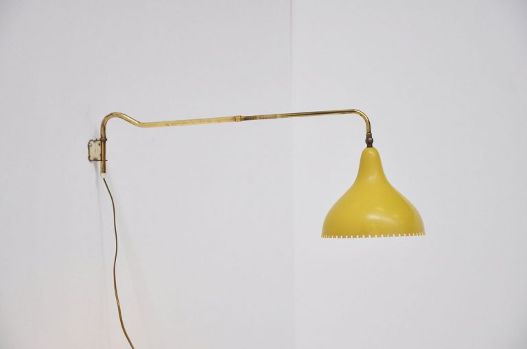 French arc wall lamp 1950