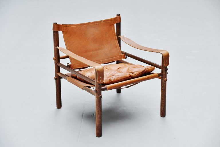 Arne Norell sirocco chair in cognac leather Sweden 1964