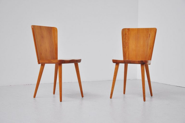 Carl Malmsten side chairs pair, Sweden 1940