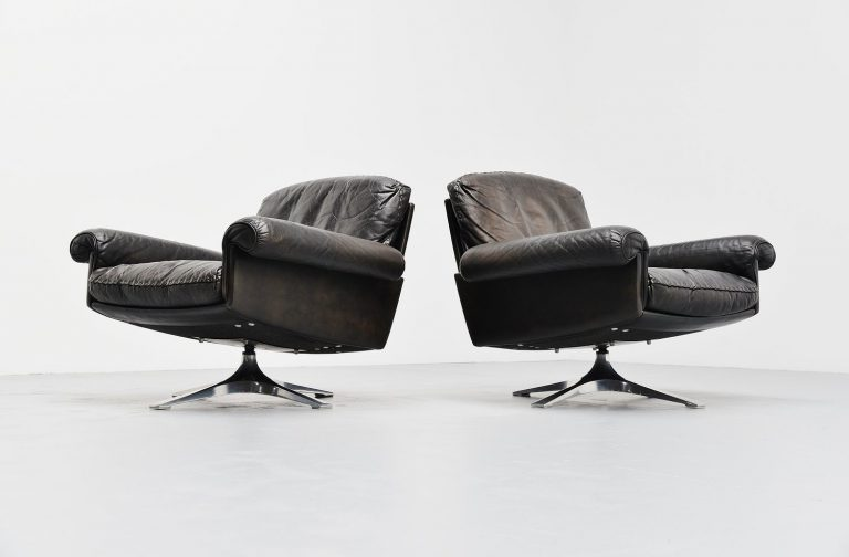 De Sede DS31 pair of lounge chairs Switzerland 1970