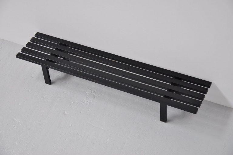 Martin Visser black slat bench BZ81 't Spectrum 1965