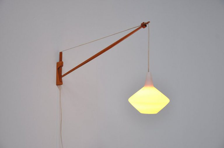 Lisa Johansson Pape arc lamp teak 1960