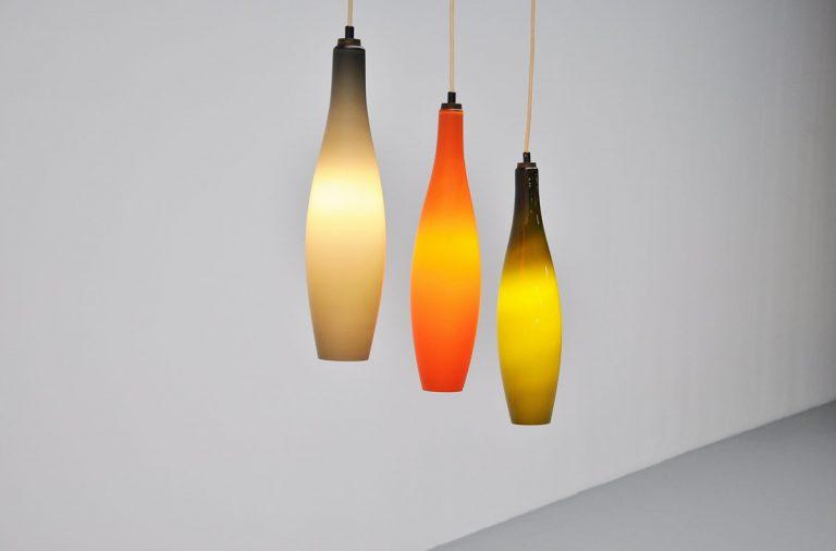 Holmegaard pendant lamp set 1960