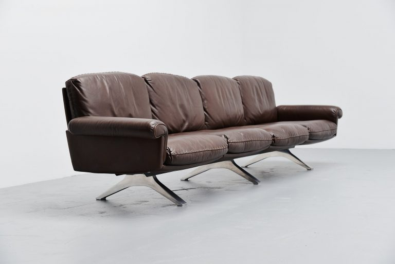 De Sede DS31/4 lounge sofa in brown leather Switzerland 1970