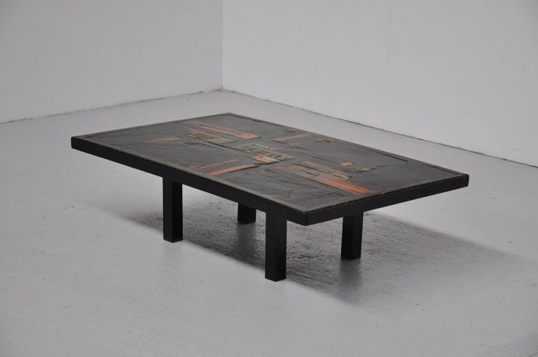 Paul Kingma ceramic coffee table 1978