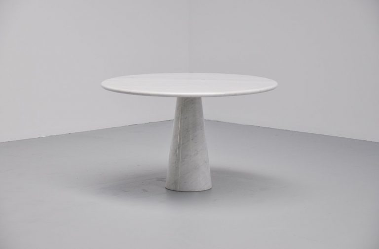 Angelo Mangiarotti attributed dining table in marble Italy 1970