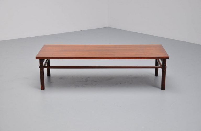 Arne Norell Safari large coffee table Scanform 1960