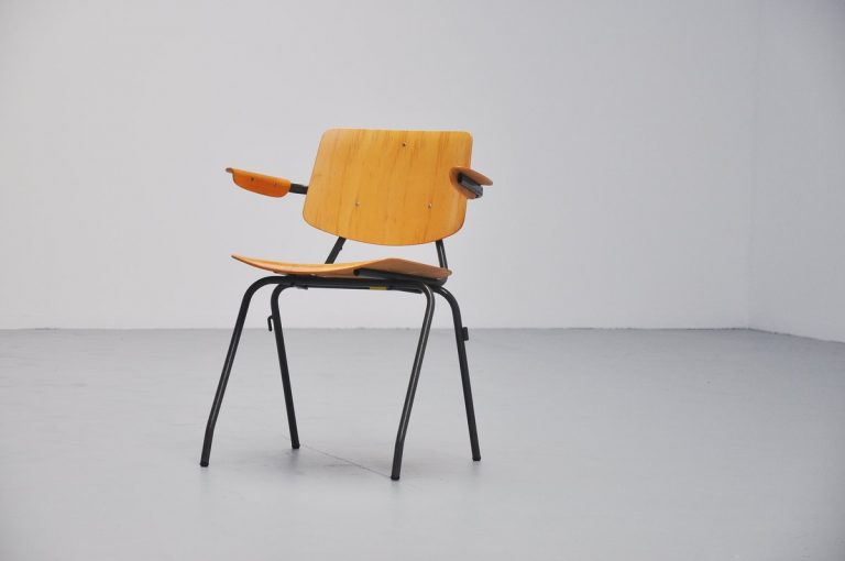 Kho Liang Ie Model 315 stacking chairs Car Katwijk 1957