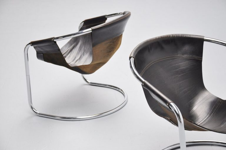 Clemens Claessen lounge chairs pair 1960