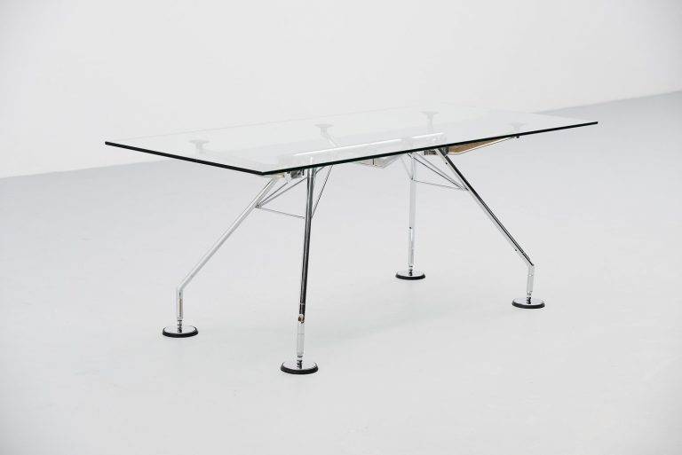 Sir Norman Foster Nomos rectangular table for Tecno 1987