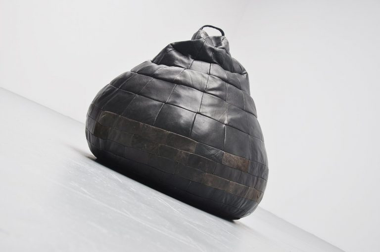 De Sede bean bag in black patchwork leather Switzerland 1970