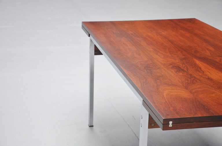 Belgian N-Line extendable dining table in rosewood 1960