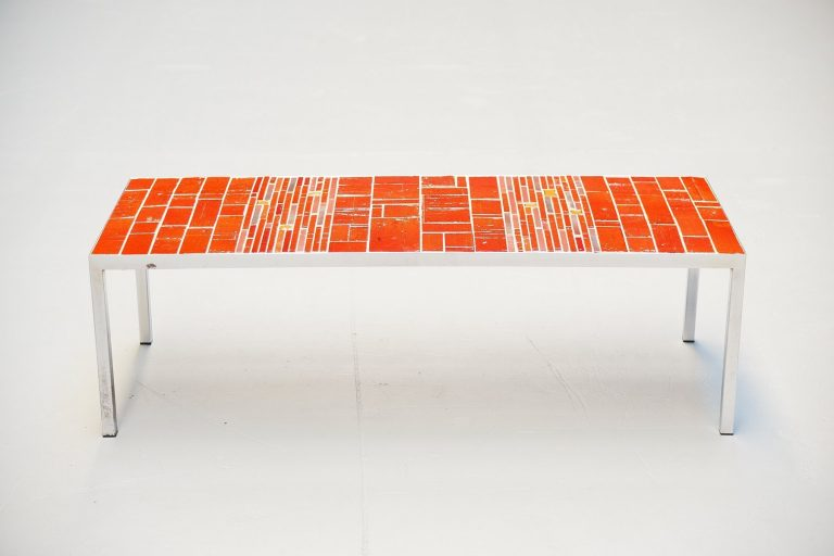 Rogier Vandeweghe Amphora ceramic tiles table Belgium 1960