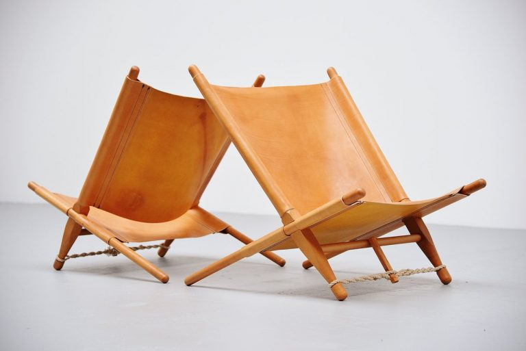 Ole Gjerlov Knudsen Saw Lounge Chairs Cado, 1958