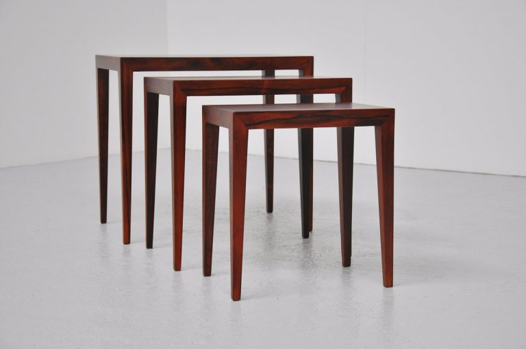 Haslev Severin Hansen nesting tables Rosewood 1960
