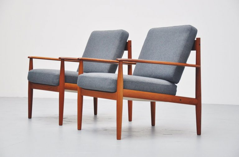 Grete Jalk lounge chairs #128 France & Son Denmark 1963