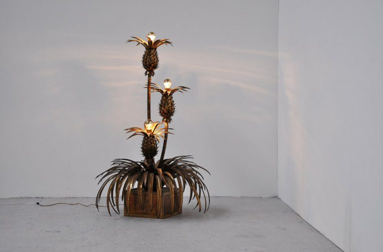 Maison Jansen pineapple tree lamp 1960s