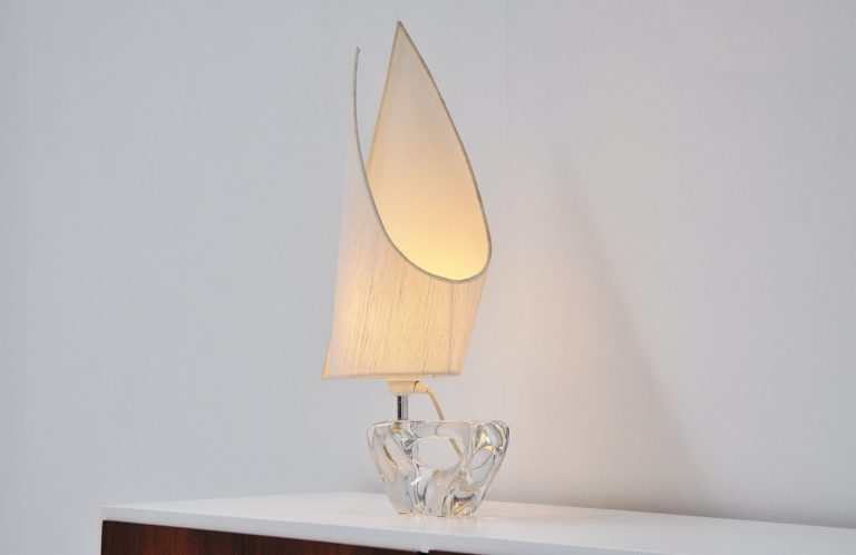 Daum France vollier table lamp 1960