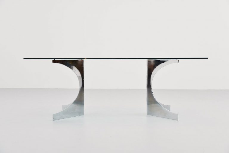 N. Effront sculptural dining table France 1970