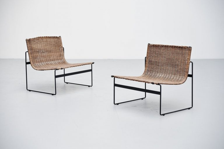 Gregorio Vicente Cortes pair of lounge chairs Metz & Co 1961
