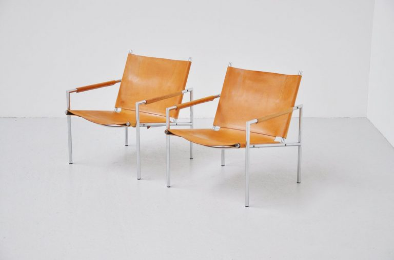 Martin Visser natural SZ01 easy chairs 1965